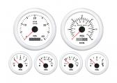 Set strumenti di controllo motore / bianco